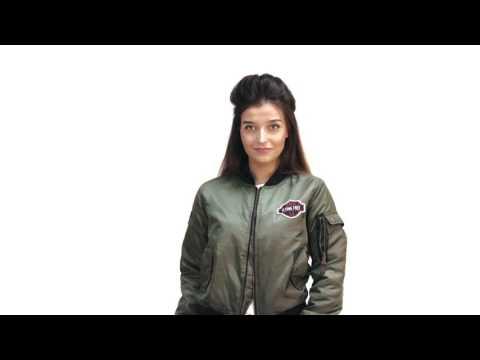 Куртка-бомбер женская свободного кроя из нейлона 1983