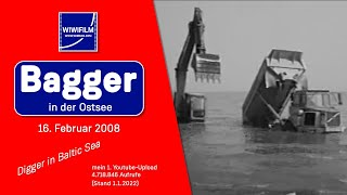 Bagger in der Ostsee, Digger in Baltic Sea