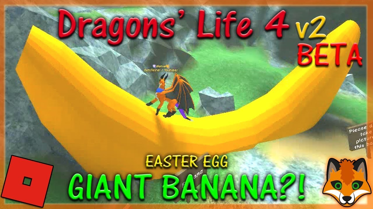 Roblox Dragons Life 4 V2 Beta Giant Banana 14 Hd Youtube
