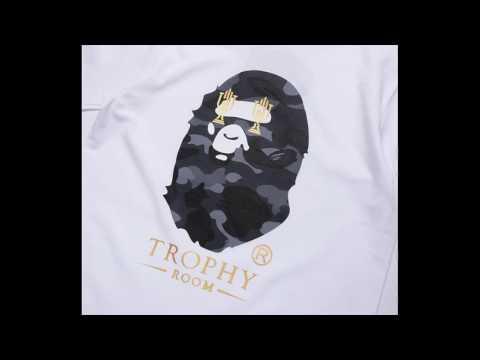 8afee394 A Bathing Ape Bape Trophy Room & Tiger Camo T-Shirts - YouTube
