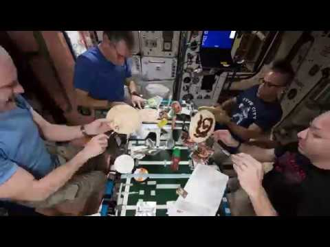 Pizza Night on the Space Station!