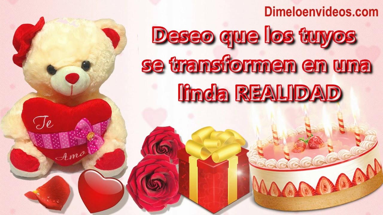 Frases Para Feliz Cumpleaños Con Peluches Rosas De Amor