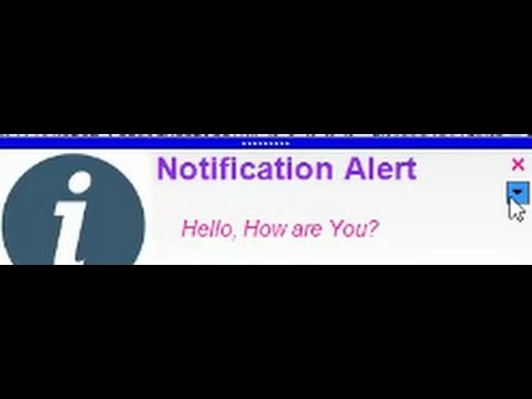 How to Create a Notification Popup Message through VB  Net?