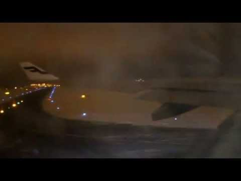 Finnair A330 take off from Helsinki