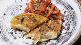 Chicken Breast with Sweet and Sour Bell Pepper (Куриное филе с кисло-сладким перцем)