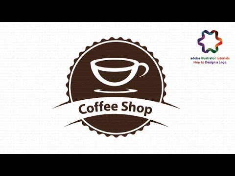 illustrator tutorial : Create Coffee Logo Design - Vintage Badge Coffee Shop Logo (No Speed art)