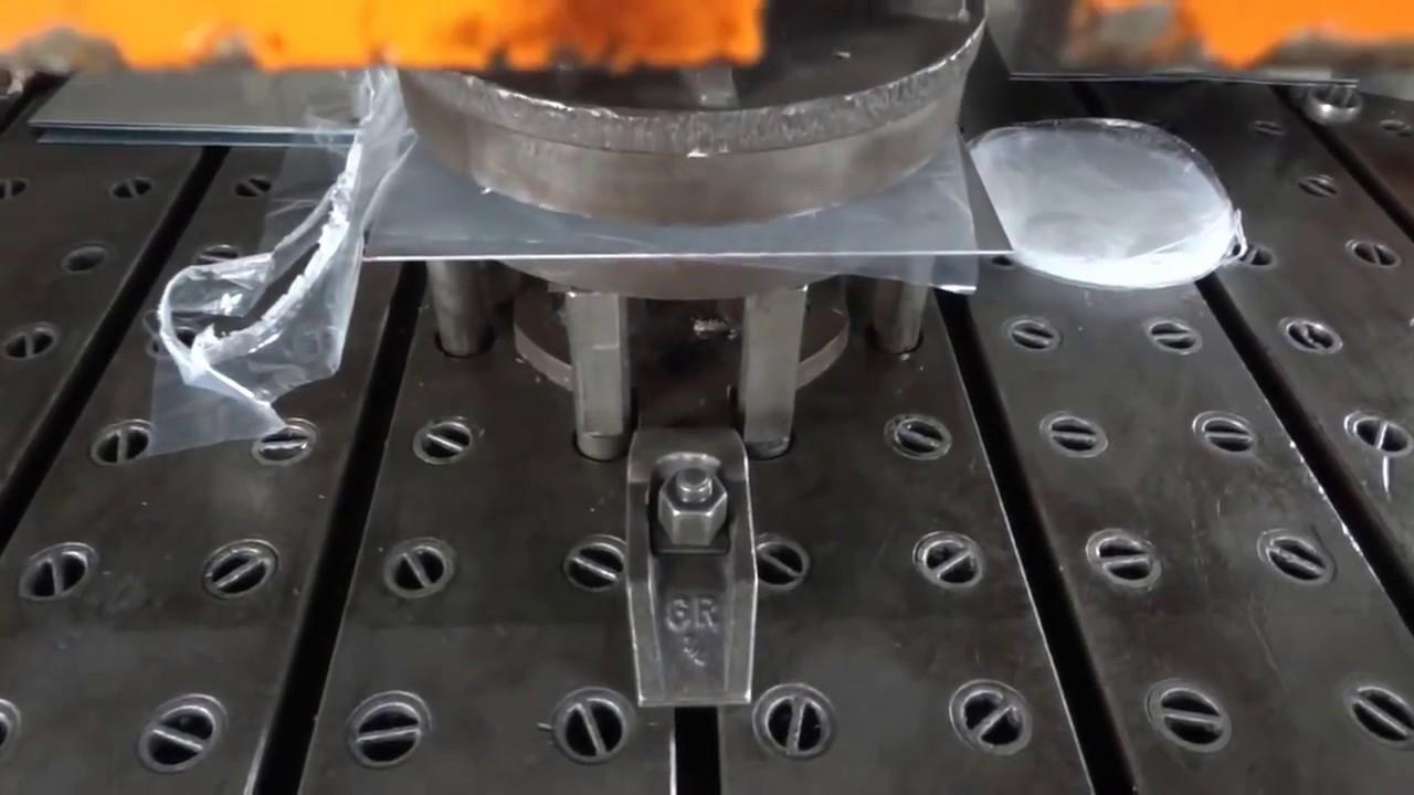 Modernistyczne Prasa hydrauliczna, poduszka w stole - głębokie tłoczenie - YouTube HI32