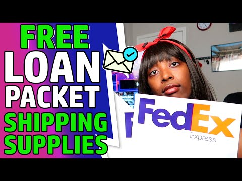 Free Loan Packet Shipping Supplies