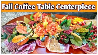 Fall Autumn Coffee Table Decorate with Me | Tuscan Inspired Fall Decor
