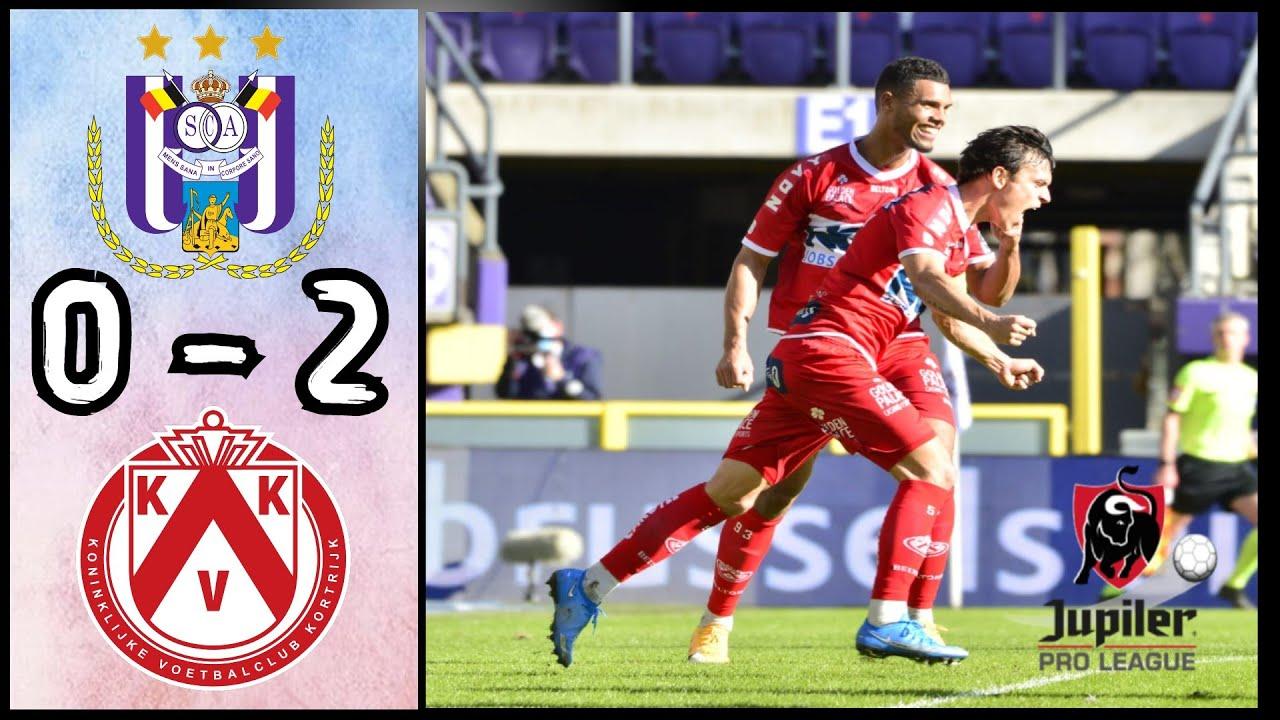 RSC Anderlecht 0 - 2 KV Kortrijk | Samenvatting | Jupiler Pro League -  YouTube