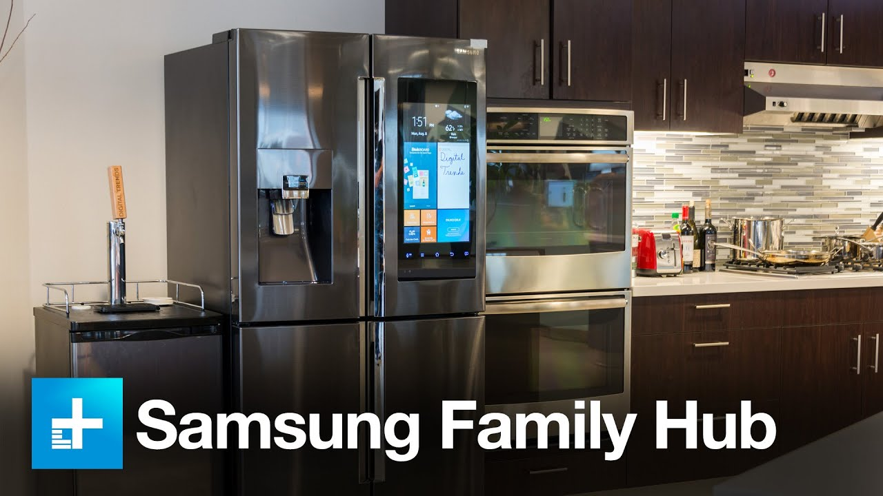samsung family hub fridge hands on youtube. Black Bedroom Furniture Sets. Home Design Ideas