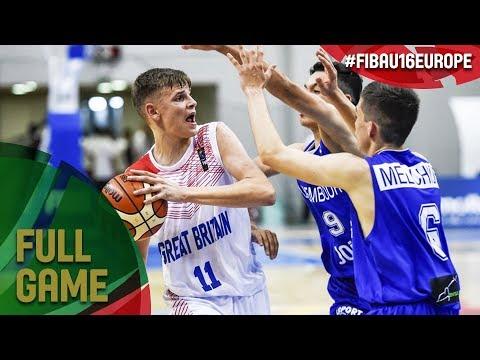 Great Britain v Luxembourg - Full Game - FIBA U16 European Championship 2017 - DIV B