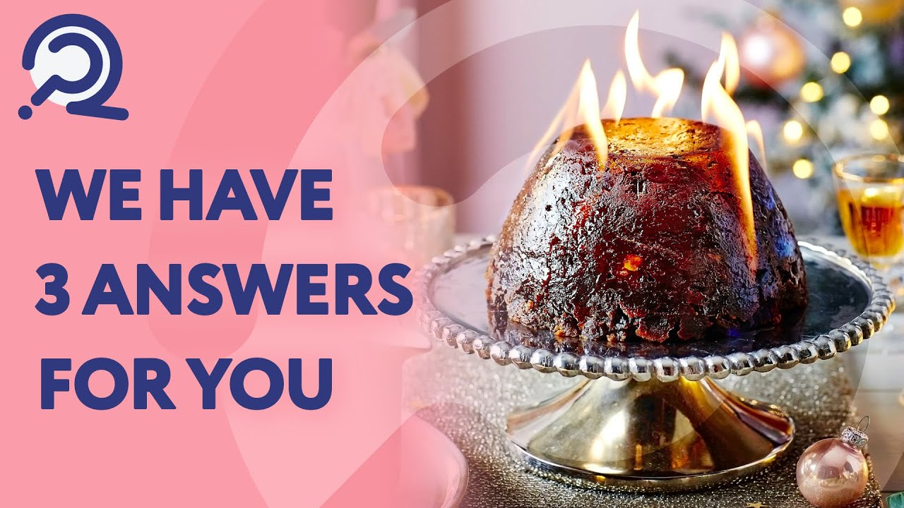 Christmas Pudding On Fire.Why Do We Set Fire To Christmas Pudding I Have A Question