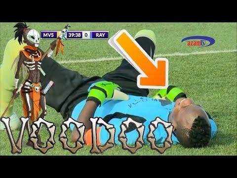 Rwandan Striker Removes Charm From Goal Post Full Video-Rwanda Football Witchcraft Ritual Mid game -