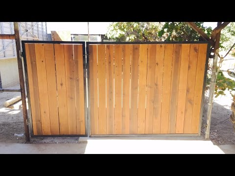 Rustic Wood and Aged Metal Gate
