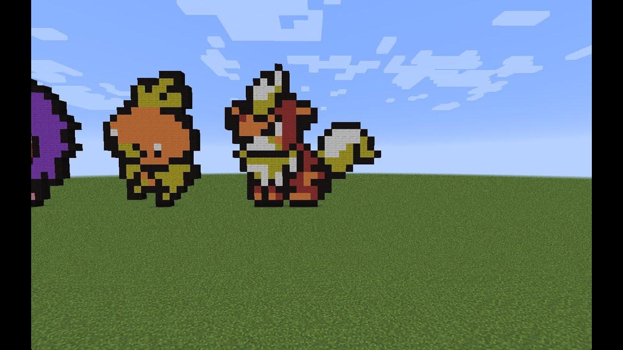 how to build minecraft pixel art