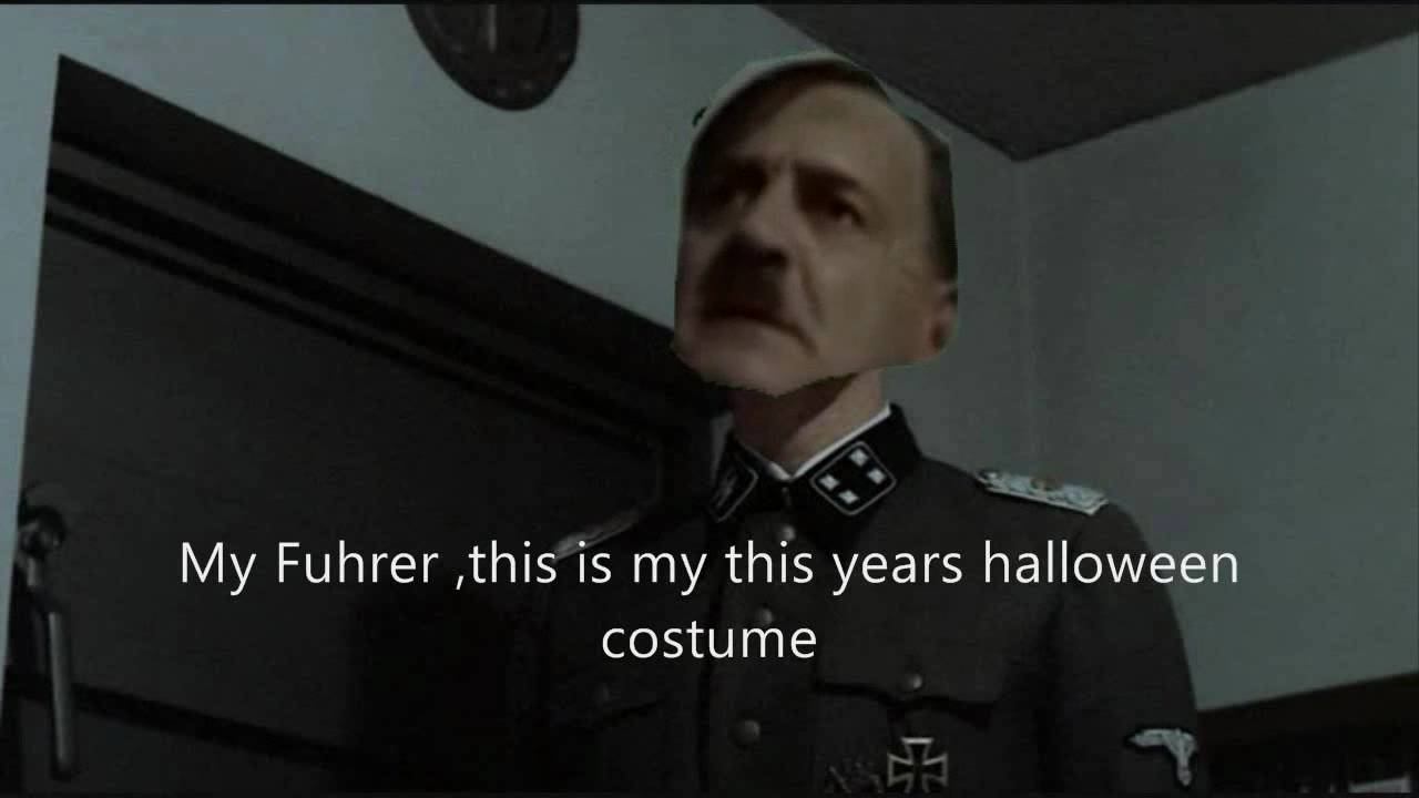 gunsches halloween costume (hitler parody) - youtube