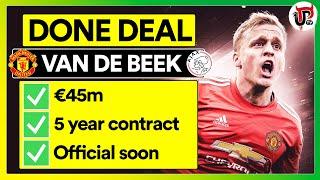 DONE DEAL: Van de Beek to Man Utd Transfer CONFIRMED