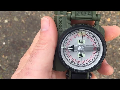 THIS is how to use a Compass (Lensatic Compass for ...