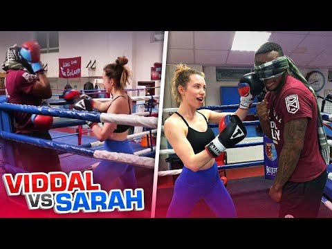 *BLINDFOLDED!* SPARRING Vs Sarah Close!