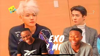 THESE GUYS ARE FUNNY! REACTION TO EXO 엑소 Funny Moments 2019