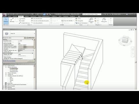 Creaci n de una escalera compensada tutorial youtube for Escalera 5 pasos afuera