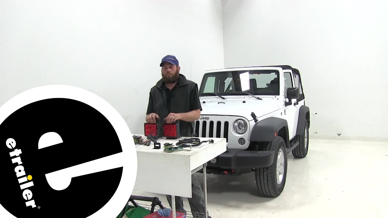 best 2008 jeep wrangler tow bar wiring options etrailer com youtube [ 1280 x 720 Pixel ]