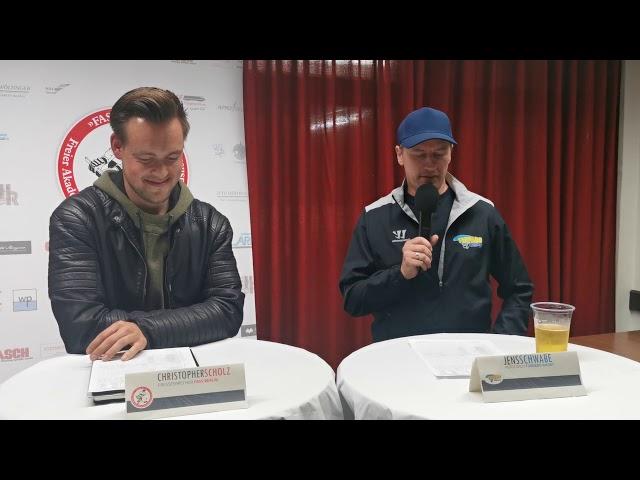 Pressekonferenz FASS Berlin Vs Tornado Niesky