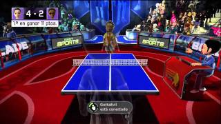 Kinect Sports - Online table tennis match