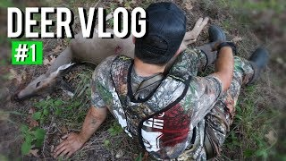 Doe Bowhunt Tried to Kill Me - DEER VLOG #1 S8