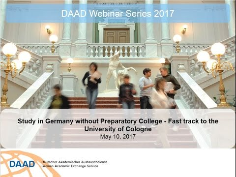 Webinar Study In Germany Without Preparatory College Fast Track To The Universit