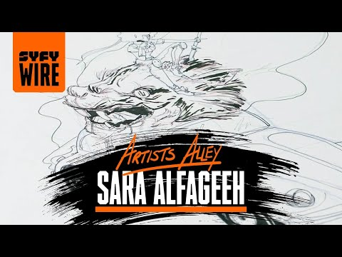 Sara Alfageeh Draws An RPG Punch Buggy (Artists Alley) | SYFY WIRE