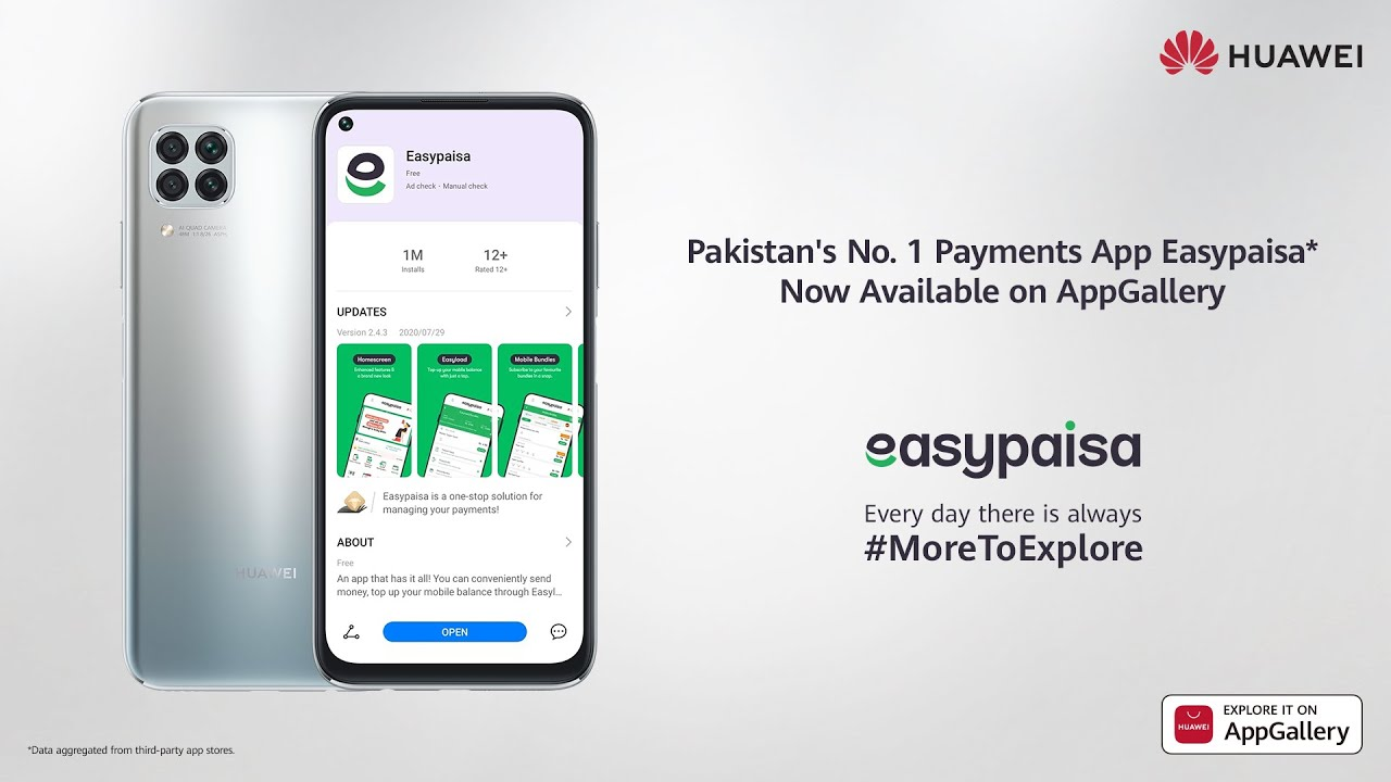 Easypaisa Pakistan's No.1 Payments App now available on Huawei AppGallery