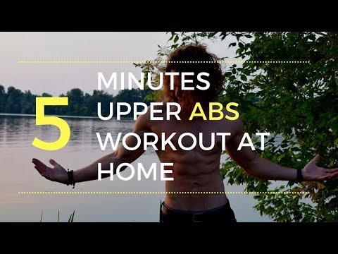 5 Minutes Upper ABS Workout at Home