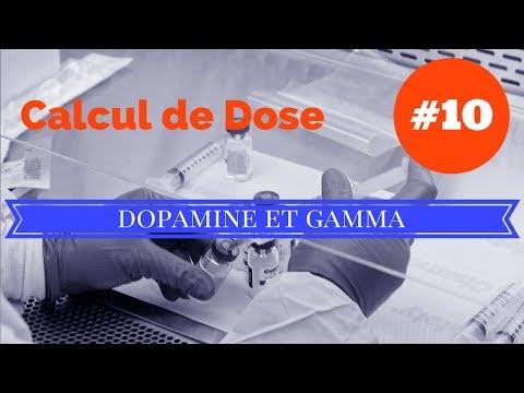 Calcul de dose - Exo 10 DOPAMINE et GAMMA