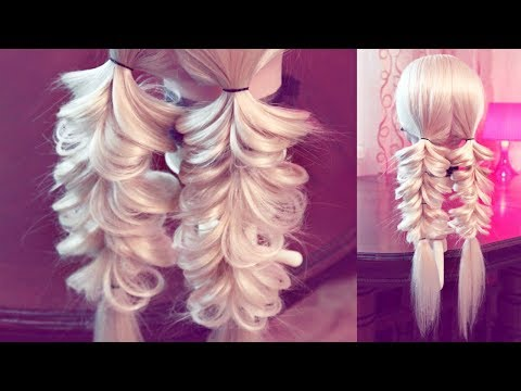 Hairstyle for school - Две косички на резинках - Hairstyles by REM