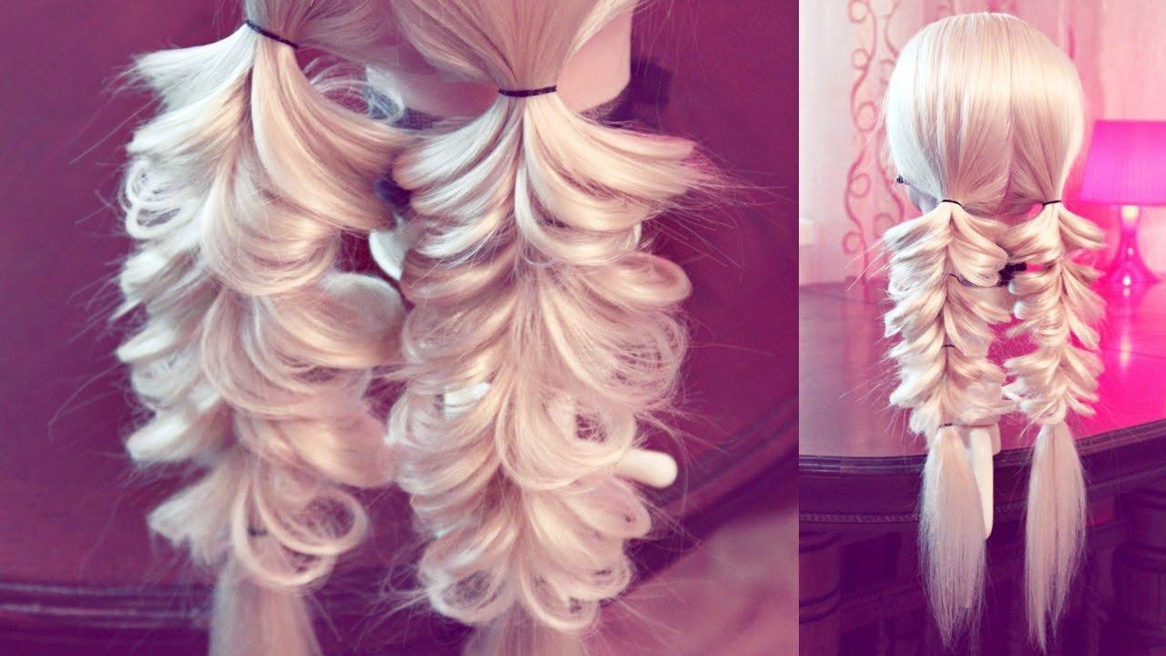 Коса с помощью резинок - 6 - Hairstyles by REM - YouTube
