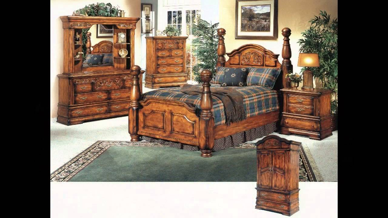 Solid oak bedroom furniture sets youtube for Oak bedroom furniture