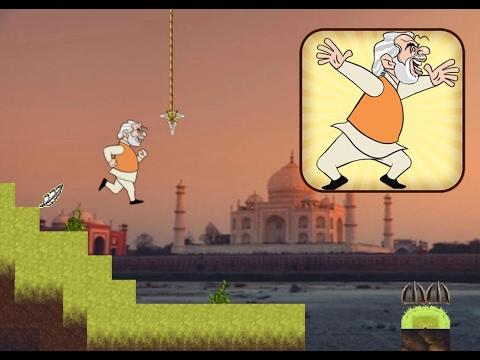 Modi Run Gameplay - (Android/iOS) - 2D Temple Run Like Games