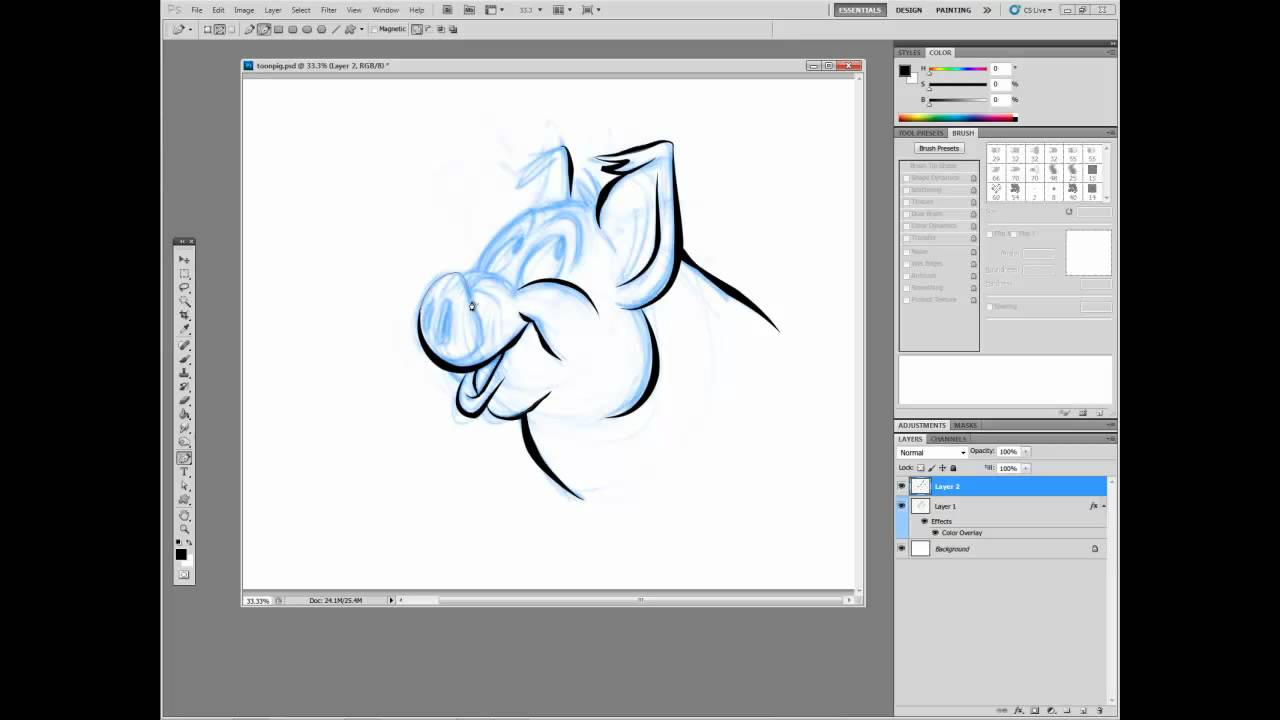 Digital Comics in Adobe Photoshop Bonus: How to Cheat at Inking