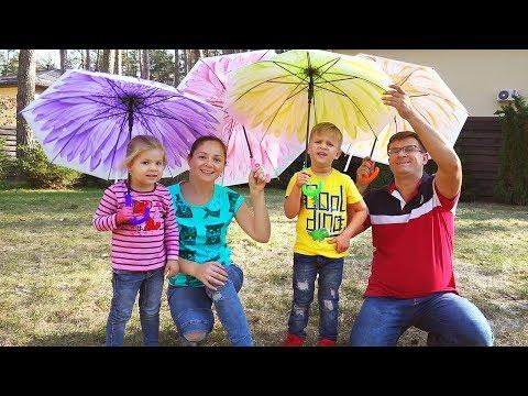 Rain Rain Go Away Song nursery rhymes with Dianas Family