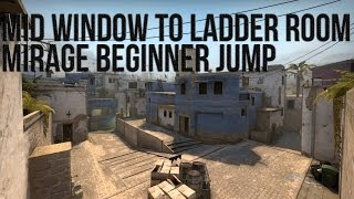 CS:GO Jumps - ladder room jump from window on Mirage