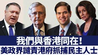 美政界譴責港府抓捕民主人士 促實施香港人權法 新唐人亞太電視 20200420