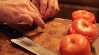 Cooking With C&t - Goat Cheese Stuffed Tomatoes