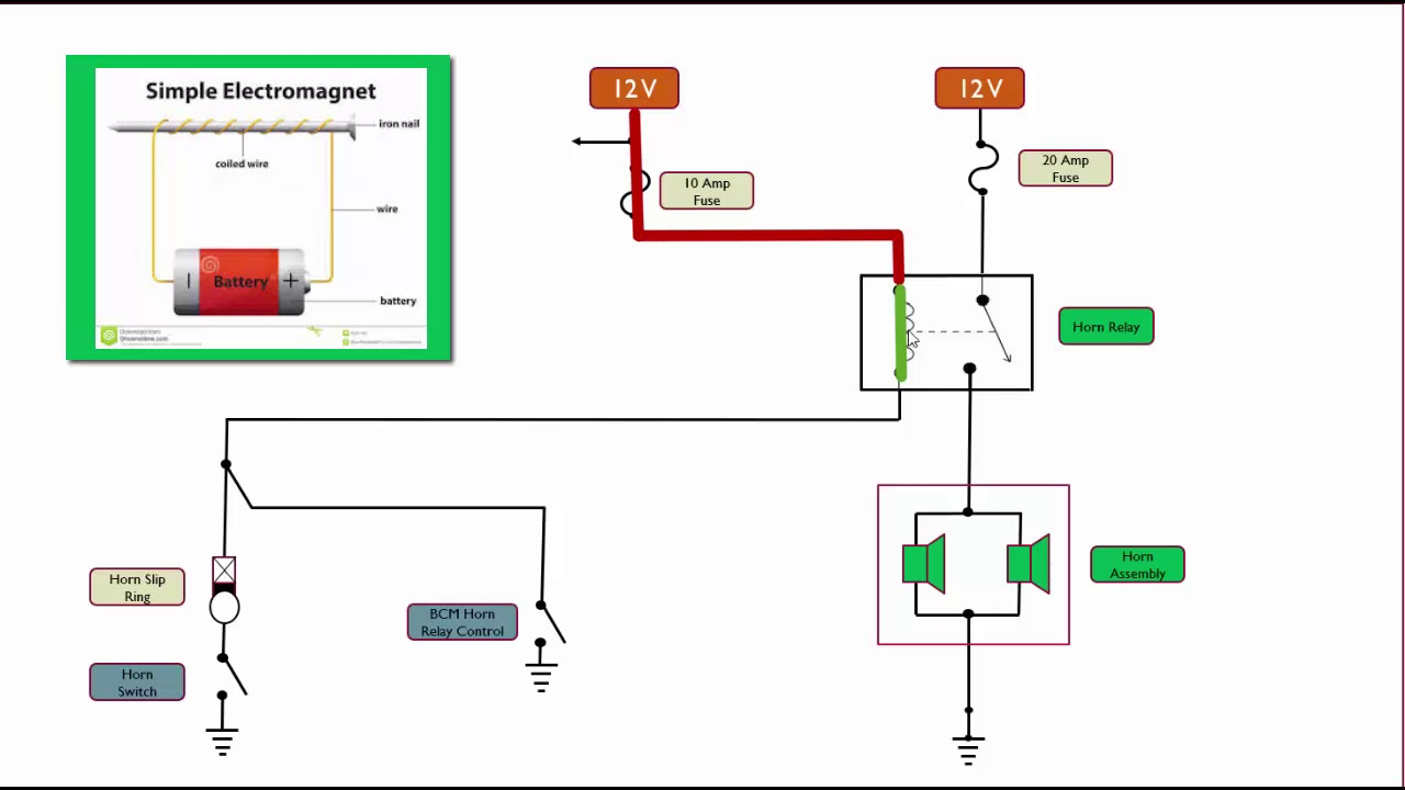 hight resolution of horn schematic circuit explained