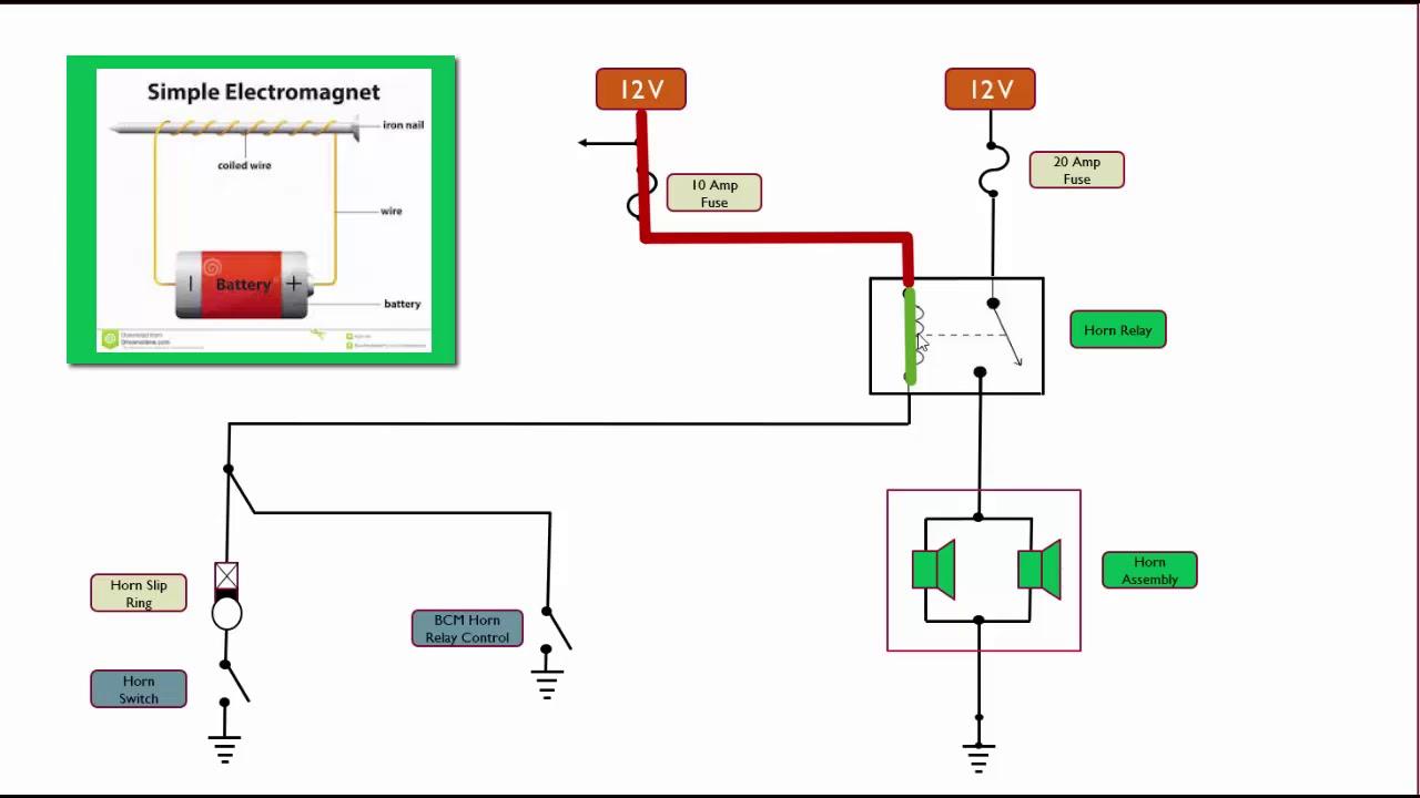horn schematic circuit explained [ 1280 x 720 Pixel ]