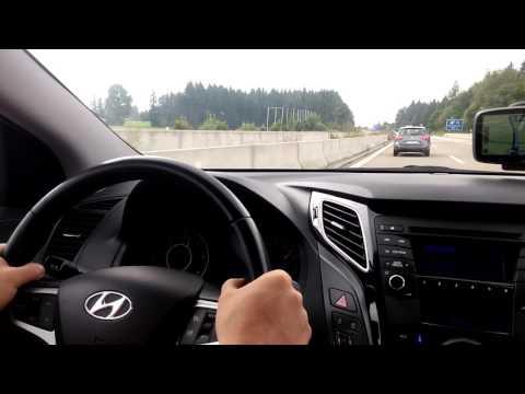 Hyundai i40 1.7 115 tourer on autobahn Germany