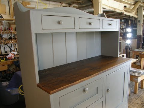 Custom Furniture Painted Secretary Hutch Reclaimed Wood with File Drawer Complete Build