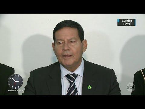 Vice de Bolsonaro, General Mourão não sabe se vai assumir campanha do PSL | SBT Notícias (07/09/18)