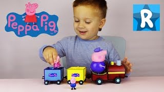 Паровозик Дедушки Свина Peppa Pig Grandpa Train unpacking
